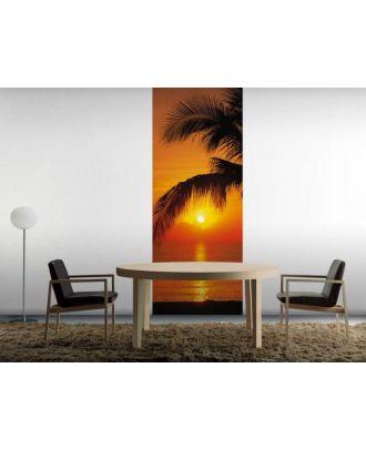 Фотообои Komar Пальмы, Пляж, Восход 2-1255